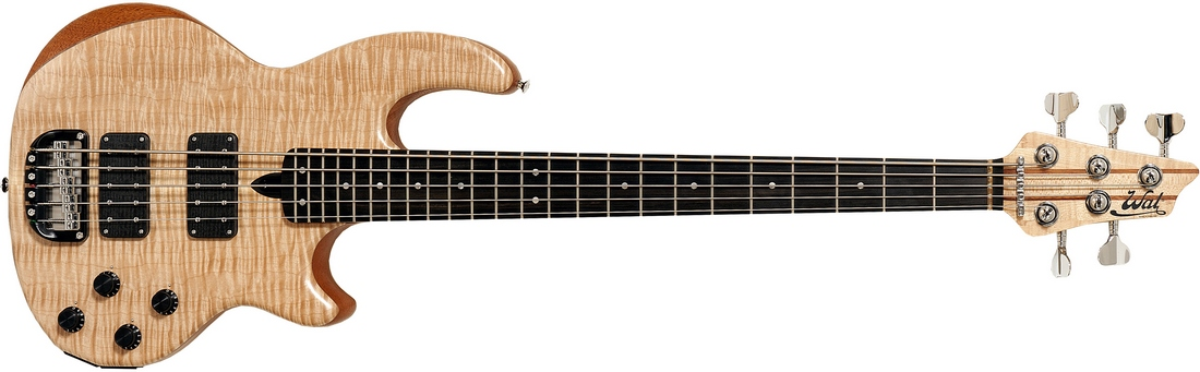 5-string Mk2 with flame maple facings and a fretted ebony fingerboard.