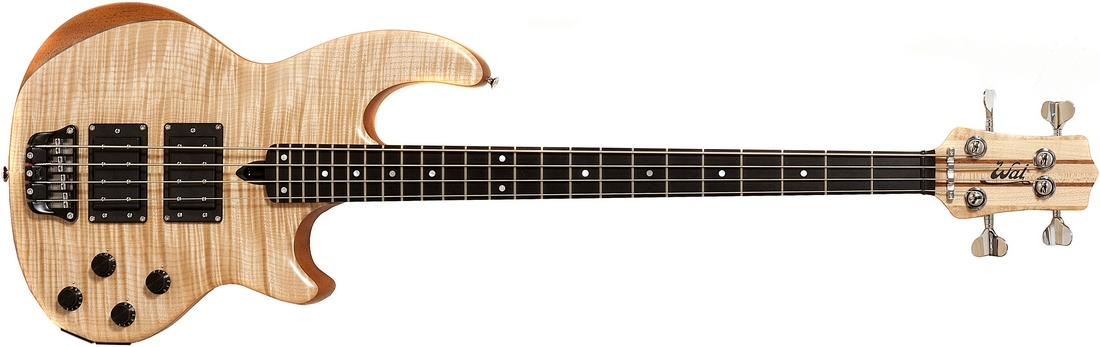 4-string Mk2 with flame maple facings, and a fretted ebony fingerboard.