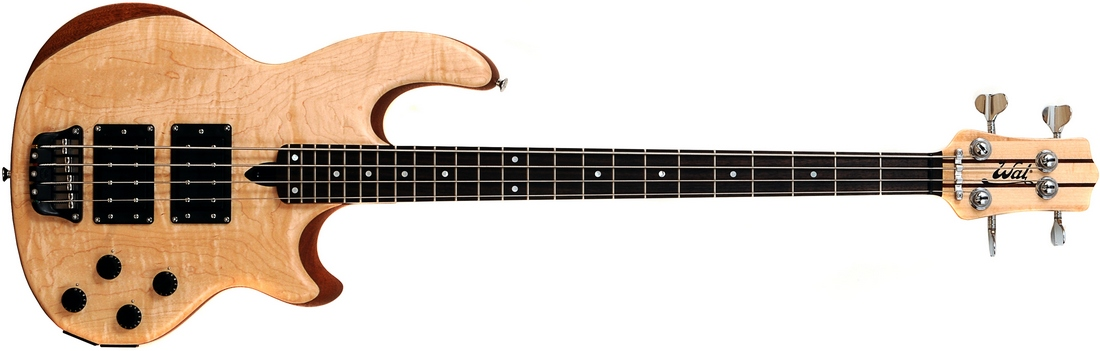 4-string Mk2 with flame maple facings and a fretted ebony fingerboard.