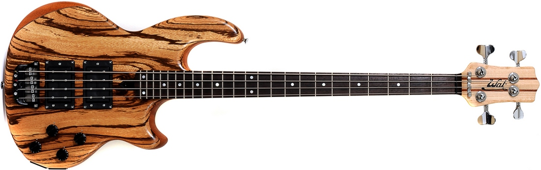 4-string Mk2 with zebrano facings and a fretted ebony fingerboard.