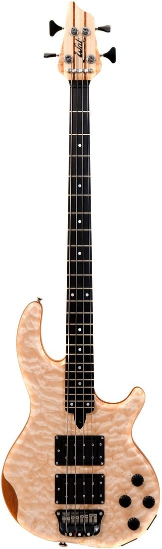 4-string Mk3 with quilted maple facings and a fretted ebony fingerboard.