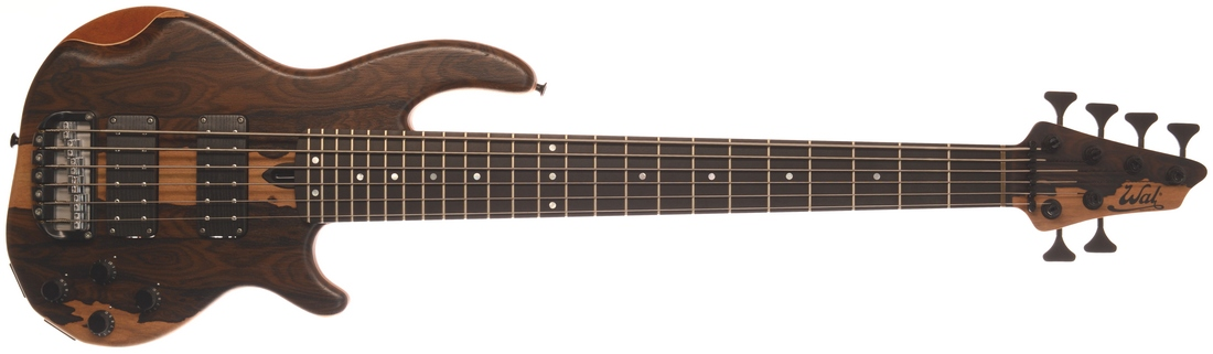 6-string Mk3 with ziricote facings, a fretted ebony fingerboard and black tuners & retainer.