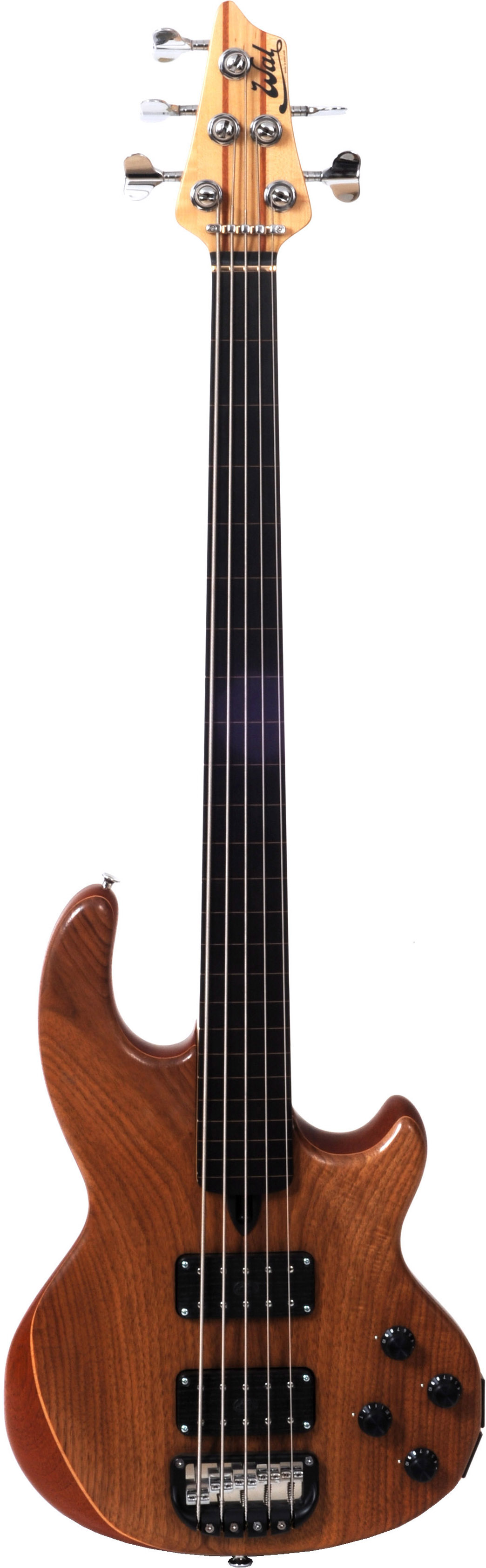 5-string Mk2 with American walnut facings and a lined fretless ebony fingerboard.