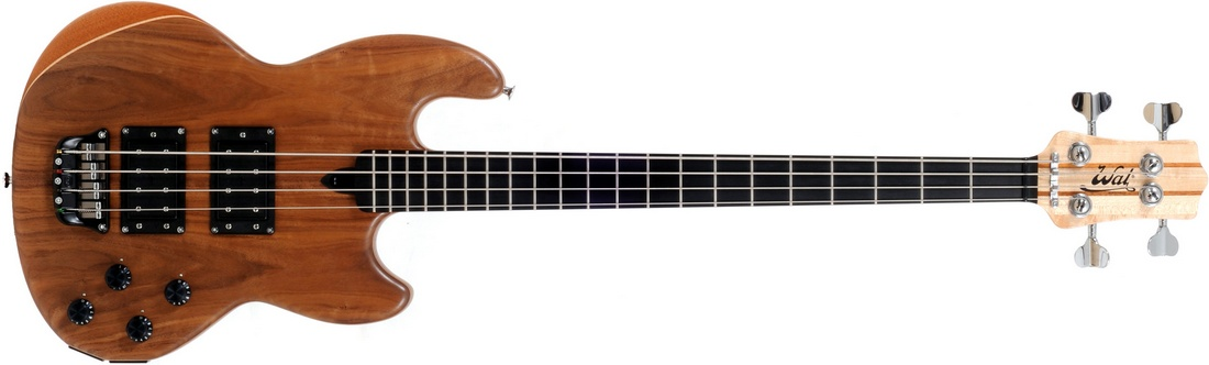 Mk1 with American walnut facings and a fretted ebony fingerboard (no face dots).