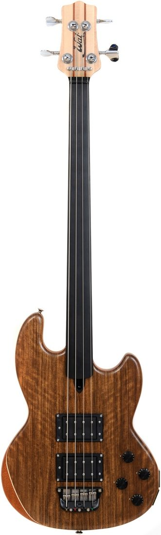 Mk1 with shedua facings and a plain fretless ebony fingerboard.