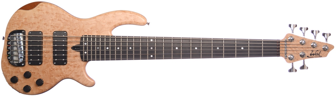 6-string Mk3 with birdseye maple facings, a matching head veneer and an ebony fingerboard.