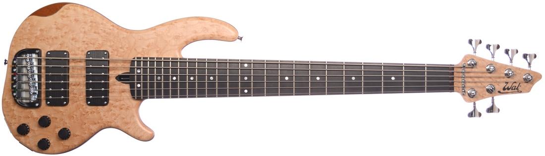 6-string Mk3 with birdseye maple facings, a matching head veneer and an ebony fingerboard.