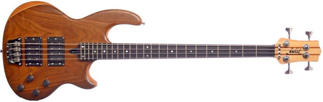 Mk2 with American walnut facings and an ebony fingerboard.