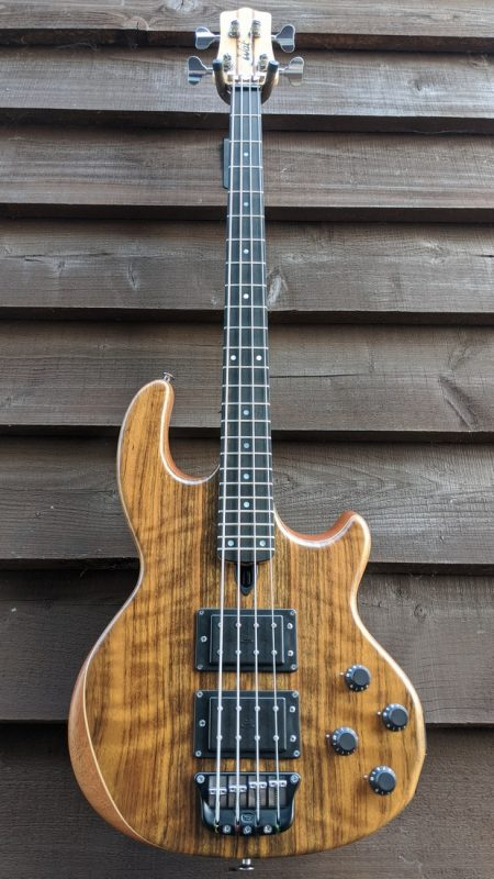 Mk2 with shedua facings and a fretted ebony fingerboard.