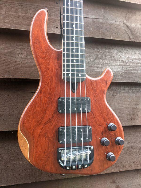 5-string Mk3 with paduak facings and ebony fingerboard.